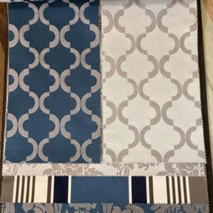 tessuto tesato blu bianco