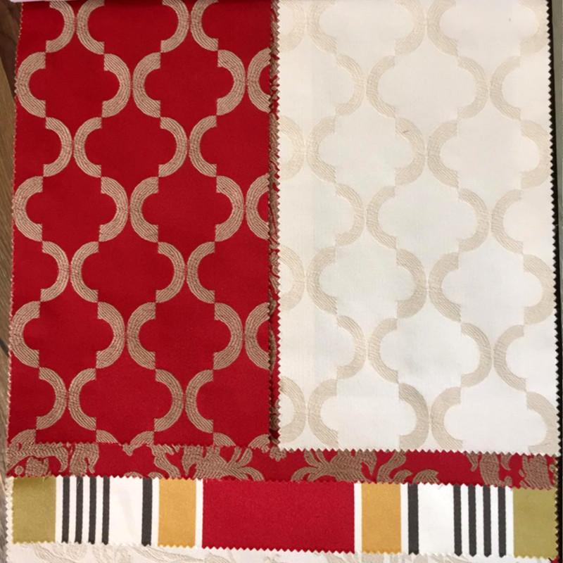 tessuto tesato rosso bianco