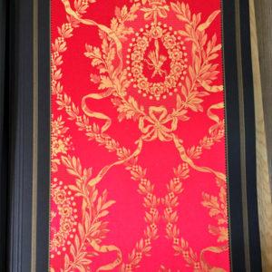 tessuto tesato rosso oro